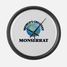 World's Greatest Monserrat Large Wall Clock