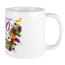 100th Birthday Floral And Butterfly Mug Mugs
