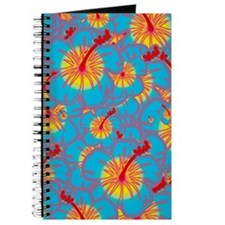 Light blue hibiscus Journal