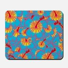 Light blue hibiscus Mousepad