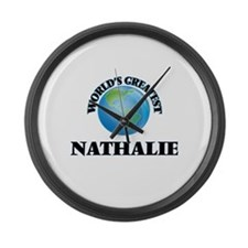 World's Greatest Nathalie Large Wall Clock