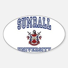 SUMRALL University Oval Decal