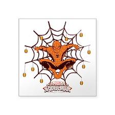 "Spiderman Happy Halloween Square Sticker 3"" x 3"""