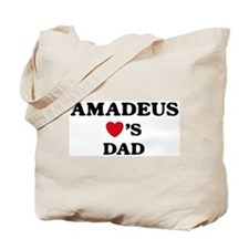 Amadeus loves dad Tote Bag
