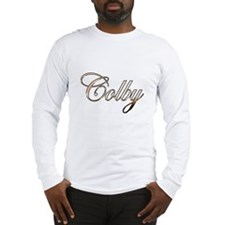 Gold Colby Long Sleeve T-Shirt