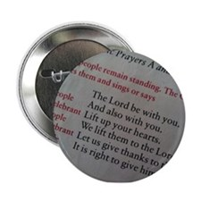 """The Lord Be With You. 2.25"""" Button"""