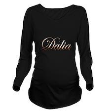 Gold Dalia Long Sleeve Maternity T-Shirt