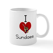 I love-heart sundaes Mugs