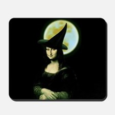 HALLOWEEN WITCH MONA LISA Mousepad