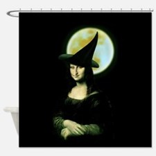 Witchy bathroom accessories decor cafepress for Mona lisa shower curtain