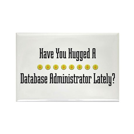Hugged Database Administrator Rectangle Magnet (10