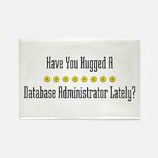 Hugged Database Administrator Rectangle Magnet