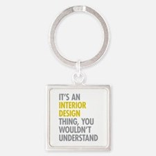 Interior Design Thing Square Keychain