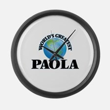 World's Greatest Paola Large Wall Clock