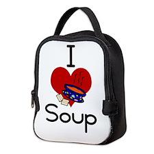I love-heart soup Neoprene Lunch Bag