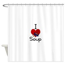 I love-heart soup Shower Curtain