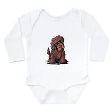 Brown Newfie Long Sleeve Infant Bodysuit