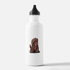 Brown Newfie Water Bottle