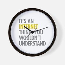 Its An Internet Thing Wall Clock