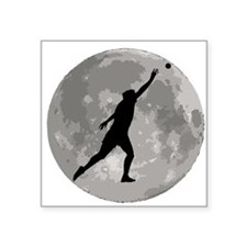 Shot Put Moon Sticker