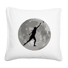 Shot Put Moon Square Canvas Pillow