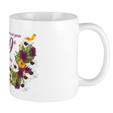 99th Birthday Floral And Butterfly Design Mug Mugs