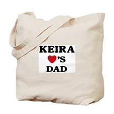 Keira loves dad Tote Bag