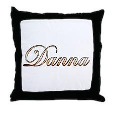 Gold Danna Throw Pillow