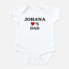 Johana loves dad Infant Bodysuit