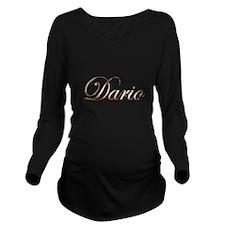Gold Dario Long Sleeve Maternity T-Shirt