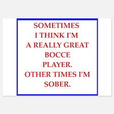 bocce 5x7 Flat Cards