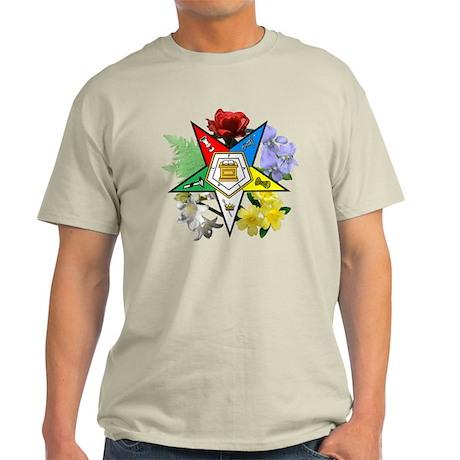 Eastern Star Floral Light T-Shirt