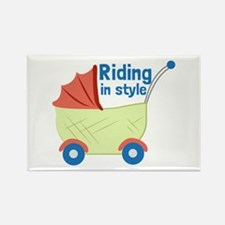 Riding in Style Magnets