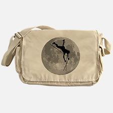Pole Vaulter Moon Messenger Bag
