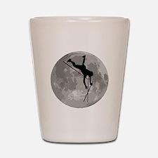 Pole Vaulter Moon Shot Glass