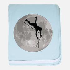 Pole Vaulter Moon baby blanket