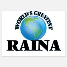 World's Greatest Raina Invitations