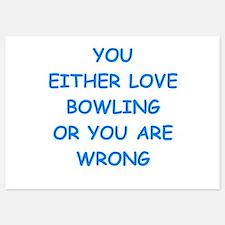 bowling 5x7 Flat Cards