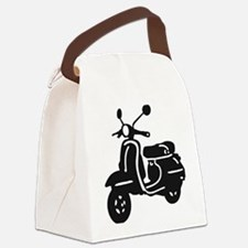 Moped Retro Scooter Canvas Lunch Bag