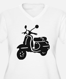 Moped Retro Scooter Plus Size T-Shirt
