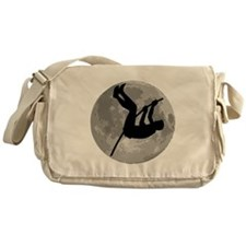 Pole Vaulter Moon Messenger Bag