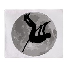 Pole Vaulter Moon Throw Blanket