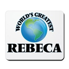 World's Greatest Rebeca Mousepad
