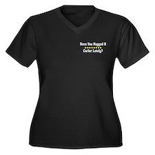 Hugged Curler Women's Plus Size V-Neck Dark T-Shir