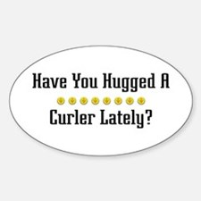 Hugged Curler Oval Decal