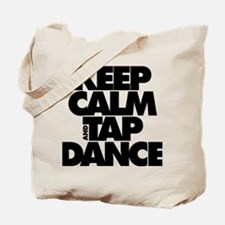 Keep Calm and Tap Dance (black) Tote Bag