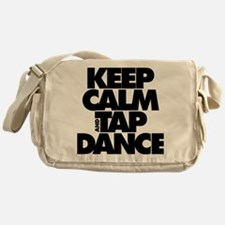 Keep Calm and Tap Dance (black) Messenger Bag