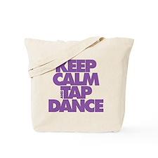 Keep Calm and Tap Dance (purple) Tote Bag