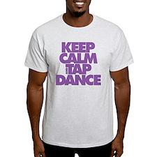 Keep Calm and Tap Dance (purple) T-Shirt