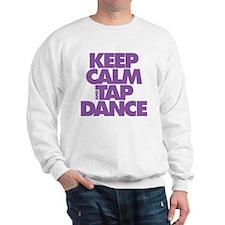 Keep Calm and Tap Dance (purple) Sweatshirt